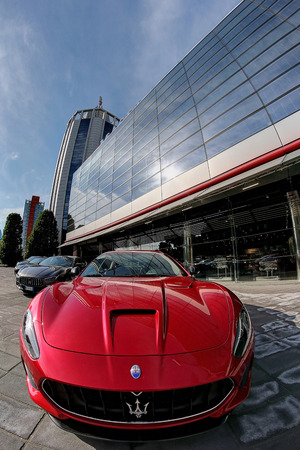 MODENA, ITALY, May 2019 - Motor Valley Fest exhibition, Maserati factory Archivio Fotografico - 124582465