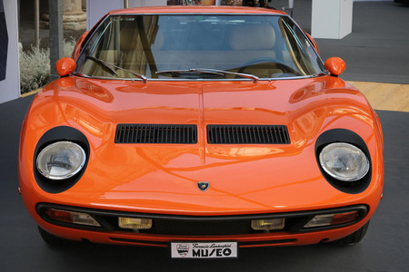 MODENA, ITALY, May 2019 - Motor Valley Fest exhibition, Lamborghini Miura Archivio Fotografico - 124582472