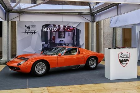 MODENA, ITALY, May 2019 - Motor Valley Fest exhibition, Lamborghini Miura Archivio Fotografico - 124582476