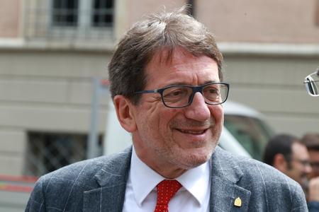 MODENA - ITALY - May 2019 - Giancarlo Muzzarelli new mayor city of Modena, Italy Archivio Fotografico - 124582485