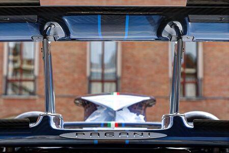MODENA, ITALY, May 16 2019 - Motor Valley Fest exhibition, Pagani Zonda detail Archivio Fotografico - 124582704