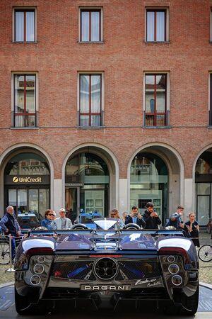 MODENA, ITALY, May 16 2019 - Motor Valley Fest exhibition, Pagani Zonda detail Archivio Fotografico - 124582718