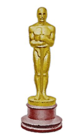 Oscar award, polygonal vector graphics elaboration, editorial
