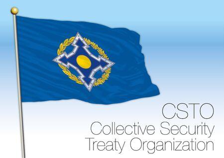 Collective Security Treaty Organization flag, Russia, vector illustration Archivio Fotografico - 126021419