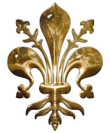Lily, symbol of the city of Florence, Italy, graphic elaboration Archivio Fotografico - 128810905