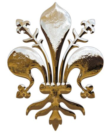 Lily, symbol of the city of Florence, Italy, graphic elaboration Archivio Fotografico - 128810915