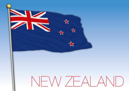 New Zealand official flag, vector illustration Archivio Fotografico - 130088389
