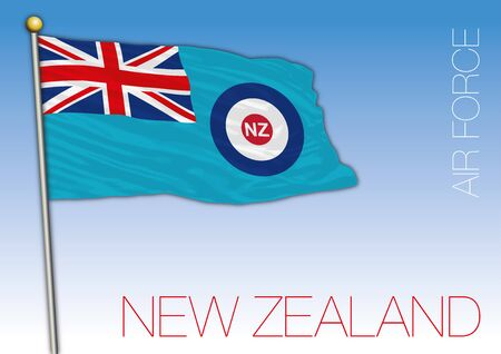 New Zealand Air Force official flag, vector illustration