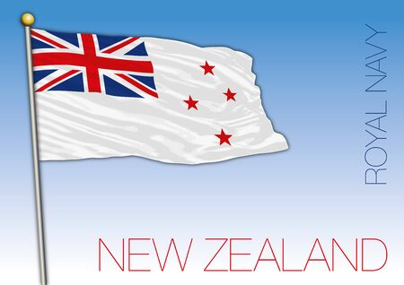 New Zealand Royal Navy official flag, vector illustration
