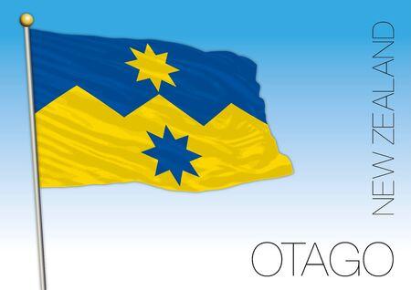 Otago county flag, vector illustration, New Zealand Ilustração