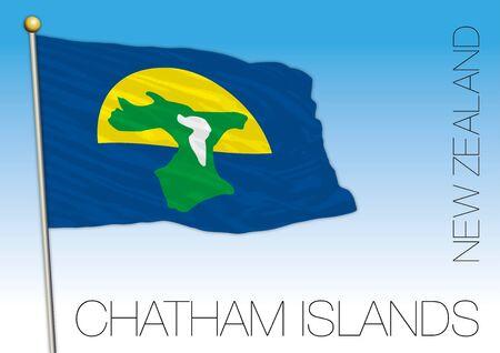 Chatham Islands flag, vector illustration, New Zealand