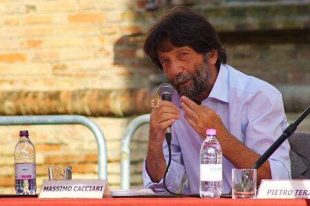 Carpi, Modena - Italy, September 2019 - Festival Philosophy 2019, Massimo Cacciari Archivio Fotografico - 130077575