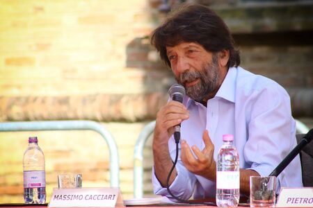 Carpi, Modena - Italy, September 2019 - Festival Philosophy 2019, Massimo Cacciari Editorial
