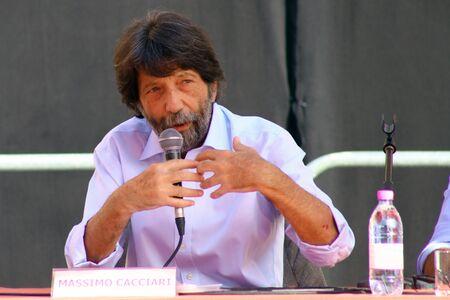 Carpi, Modena - Italy, September 2019 - Festival Philosophy 2019, Massimo Cacciari Archivio Fotografico - 130077578