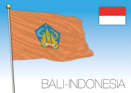 Official flag of the island of Bali, Indonesian Republic, Indonesia