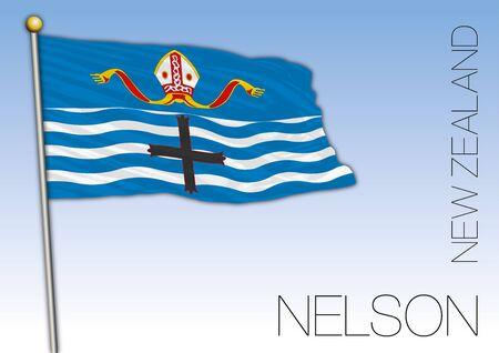 Nelson territory flag, New Zealand, vector illustration