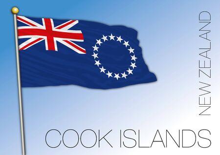 Cook Islands flag, New Zealand, vector illustration
