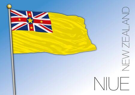 Niue Islands flag, New Zealand, vector illustration