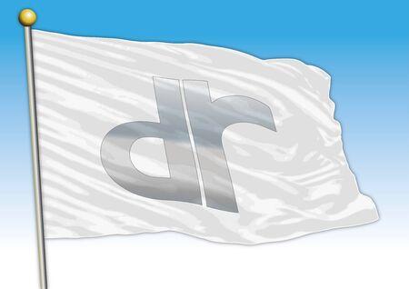 DR car industrial group, flag with logo, illustration Sajtókép