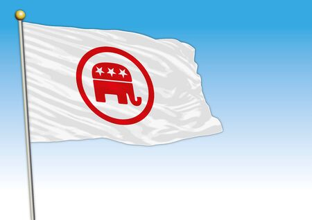 Republican Party flag, United States, vector illustration, editorial Stock fotó - 133268096
