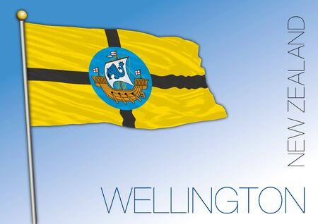 New Zealand, Wellington City official flag, vector illustration