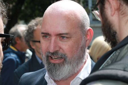 Stefano Bonaccini - MODENA - ITALY, MAY 4, 2019: Stefano Bonaccini Emilia Romagna President, public politic conference Democratic Party