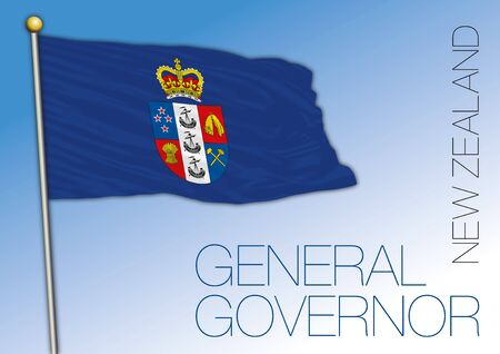 New Zealand official flag of the NZ General Governor, vector illustration
