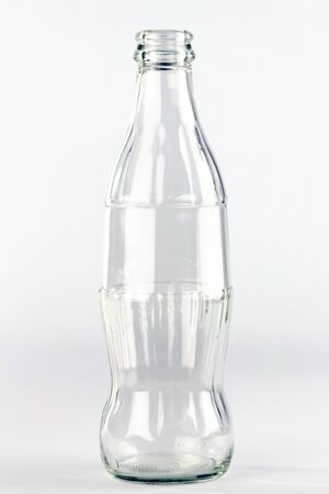 Coke glass bottle withouth brand logo on the white background, editorial Stock fotó - 133786652
