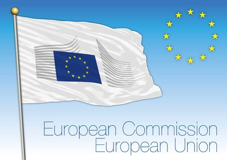 European Commission flag, European Union, vector illustration