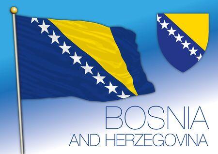 Bosnia and Herzegovina European country, vector illustration
