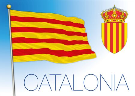Catalonia, Spain, European Union, vector illustration
