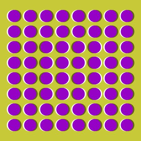 Graphical optical and illusion effect, vector illustration Stock Illustratie