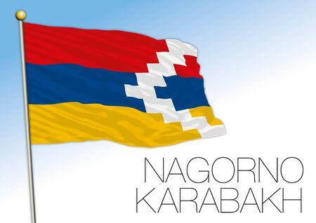 Nagorno Karabak national flag, europe and asia, vector illustration Vectores