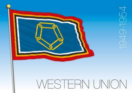 Western Union historcal flag, vector illustration, 1949 - 1954