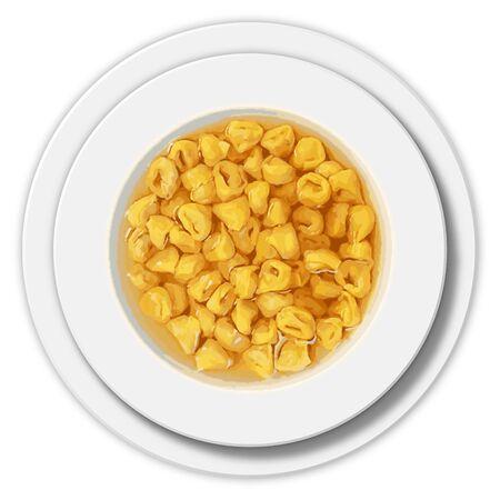 Tortellini dish, graphic elaboration Archivio Fotografico