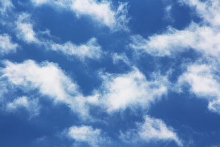 Blue sky with white clouds Archivio Fotografico