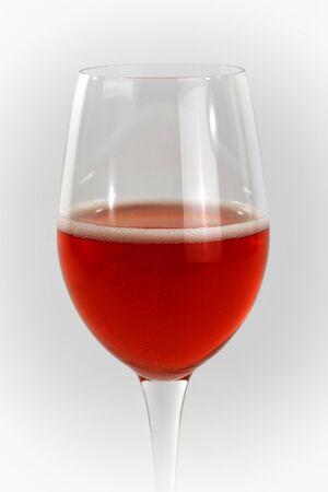Glass flute glass with red lambusco wine, modena, emilia romagna, italy