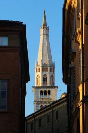 Modena, Italy - Ghirlandina tower in Piazza Grande