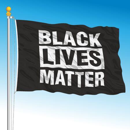 Black Lives Matter flag movement, vector illustration Vector Illustratie