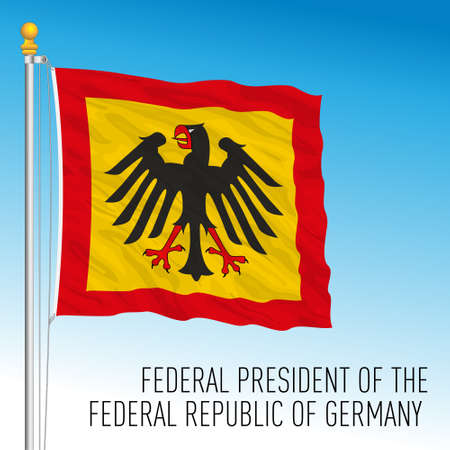 Presidential flag of Federal Republic of Germany, vector illustration Vettoriali