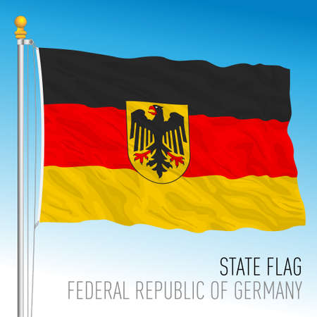 Official state flag of Federal Republic of Germany, vector illustration