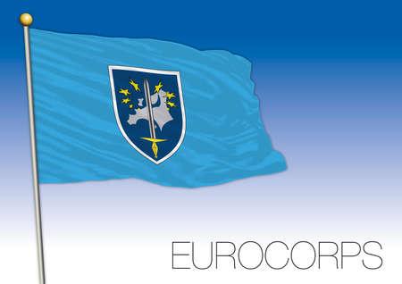Eurocorps european multinational military force flag, vector illustration Ilustracja