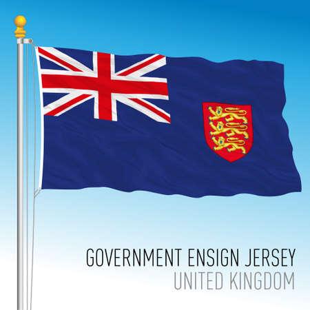Government flag of Jersey, United kingdom, vector illustration Vettoriali