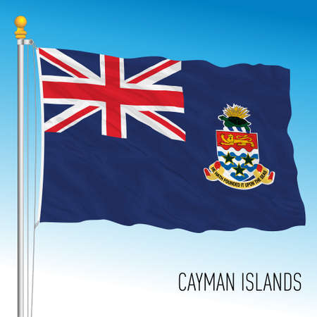 Cayman Islands official national flag, british territory, vector illustration