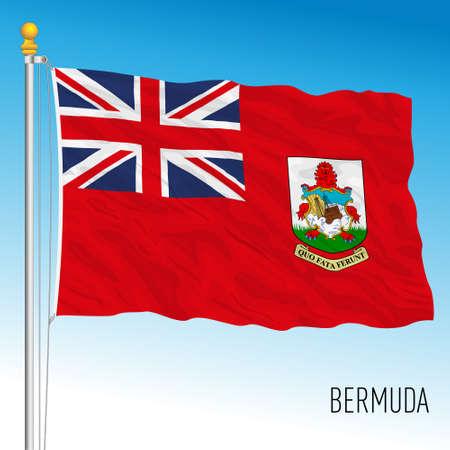 Bermuda islands official national flag, central america, vector illustration Vettoriali