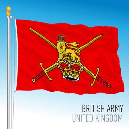 Royal Army official flag, United Kingdom, vector illustration Vettoriali