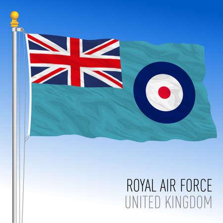 RAF Royal Air Force official flag, United Kingdom, vector illustration
