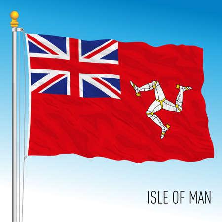 Isle of Man official civil flag, United Kingdom, vector illustration