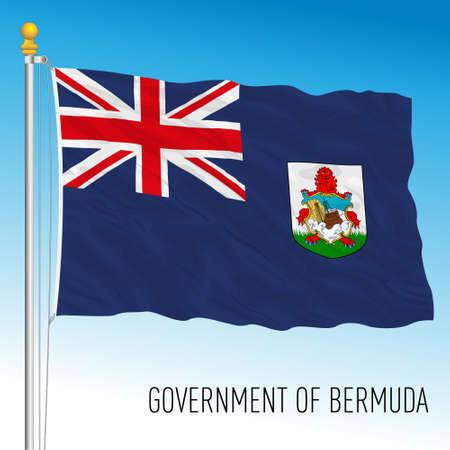 Bermuda government official flag, United Kingdom overseas territory, vector illustration Vettoriali