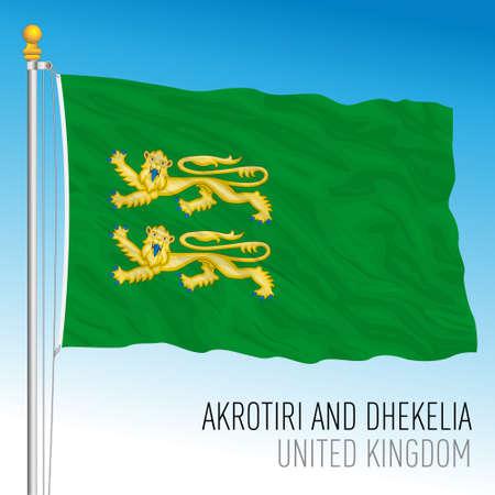 Akrotiri and Dhekelia UK territory in Cyprus flag, United Kingdom, vector illustration